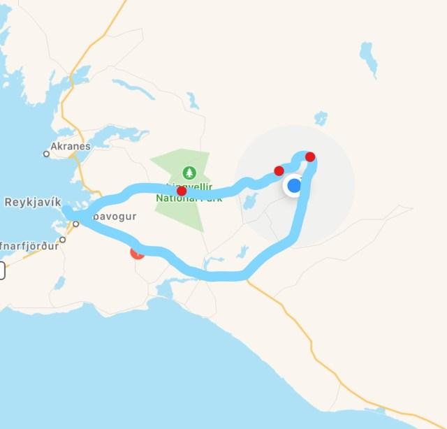 < Golden Circle Map, Iceland >