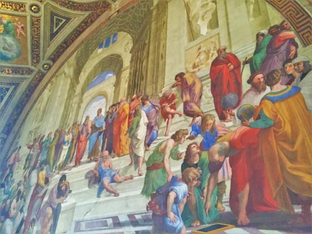< Vatican City School of Athens >