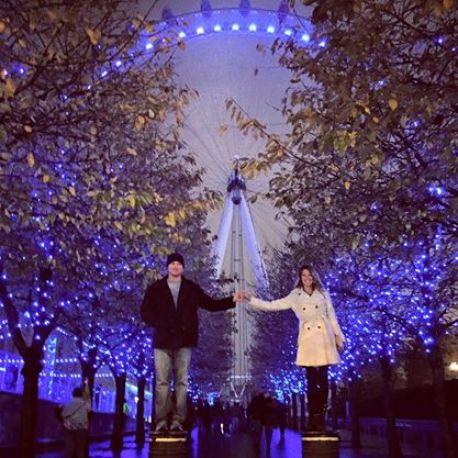 < London Eye in winter >