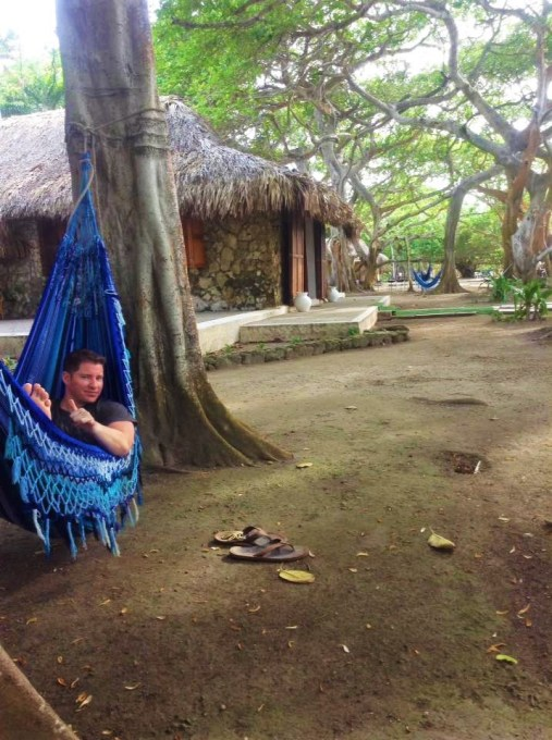 Hammocks and thatched roofs at Hotel San Pedro de Majagua