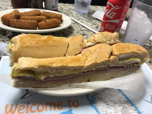Cuban sandwich and croquettes at Puerto Sagua diner
