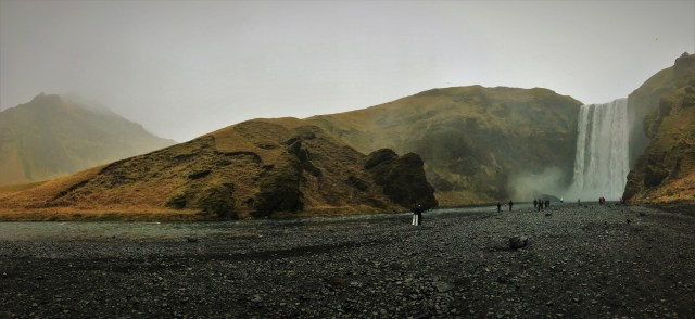 Skogafoss is impressive in any weather, but rain makes it look even more formidable
