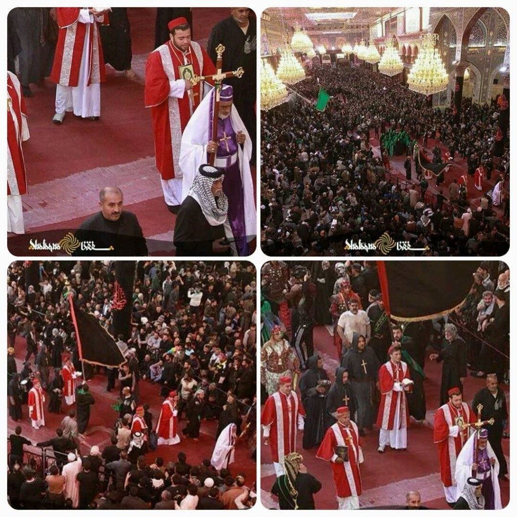 Iraqi Christian delegations pays its respect to Imam Hussain on Arbaeen