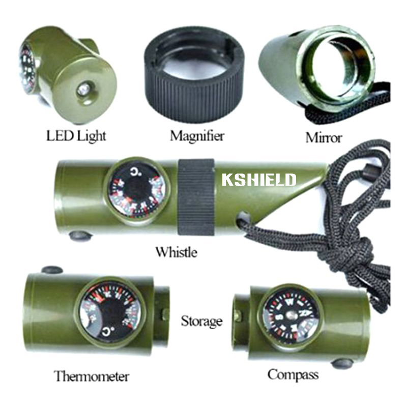 8 In 1 Multi Purpose Outdoor Survival Camping Whistle with Compass (5)
