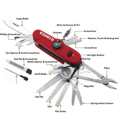 Outdor Camping 26 In 1 Pocket Knife Multi Tool with Compass (4)