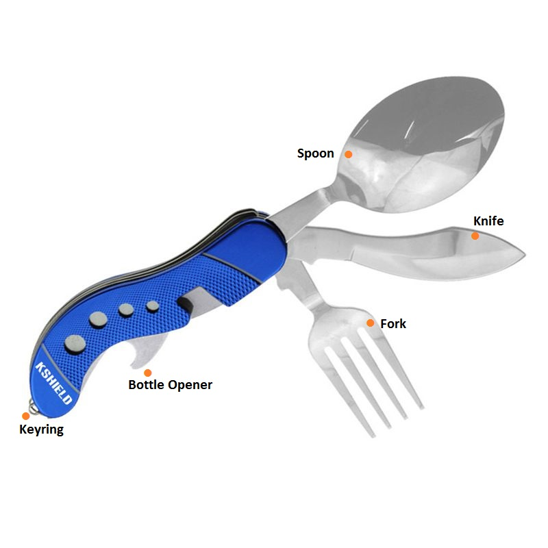 Portable Outdoor Camping Cutlery Set with Bottle Opener (5)