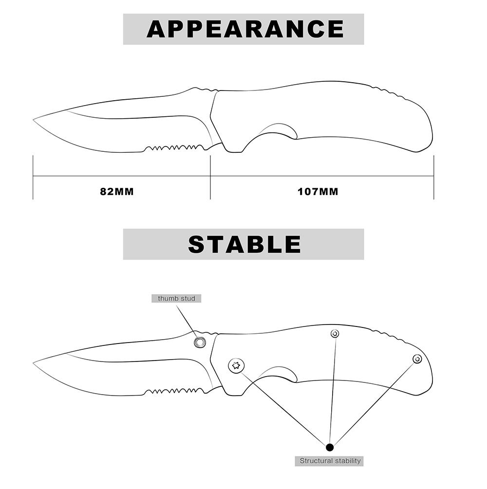 KSHIELD Cusom Knife Model Appearnce & Stable