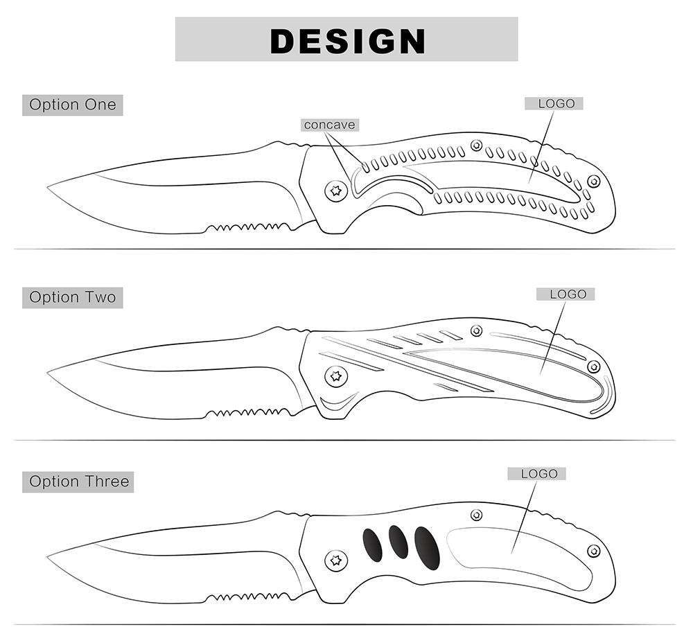 KSHIELD Cusom Knife Model Optional Design Styles