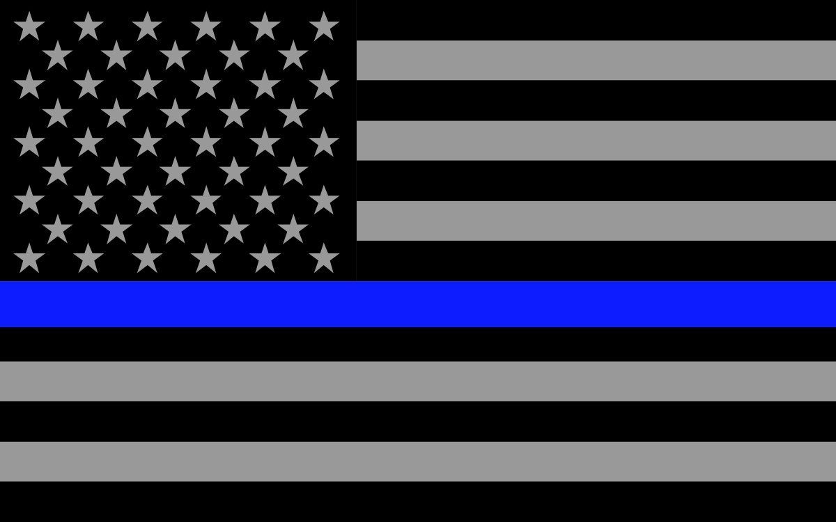 Blue Lives Matter Computer Background