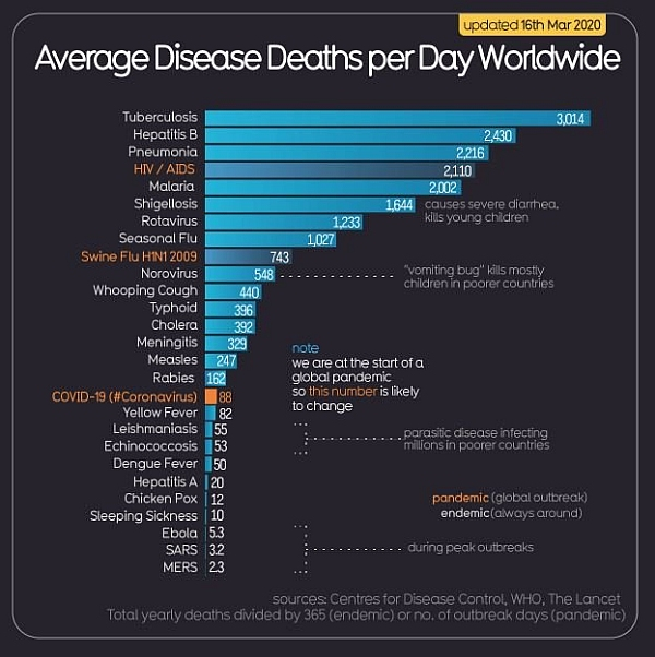 Coronavirus Daily Deaths