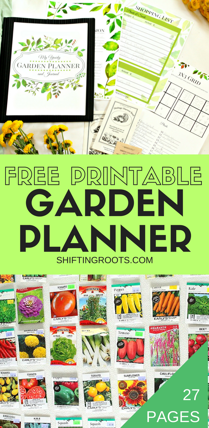 FREE PRINTABLE GARDEN PLANNER PIN 3-2 on Patio Planner id=56985