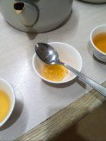 ゼリー状のお茶は冷たくて美味しかった。