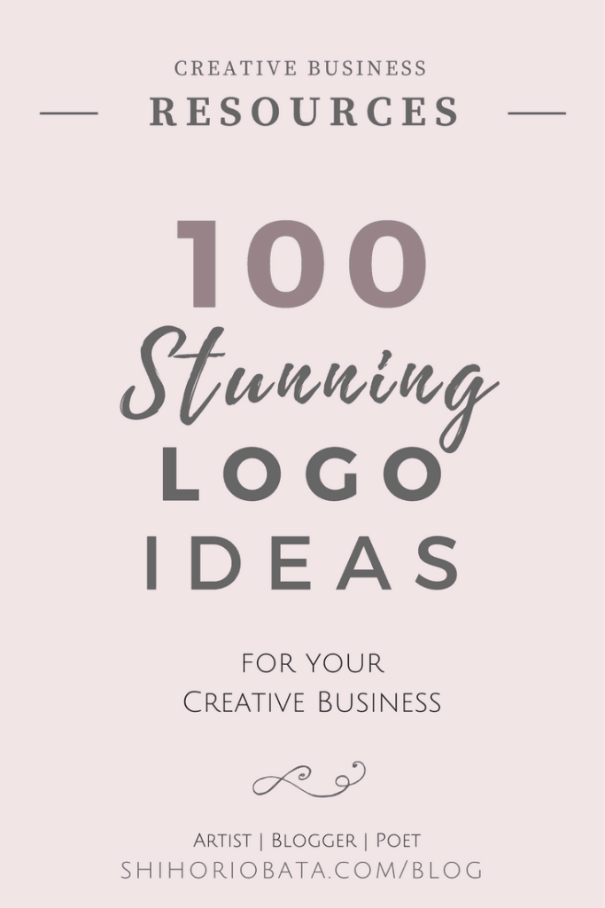 100 Logo Design Ideas for your creative business: Premade logo ideas