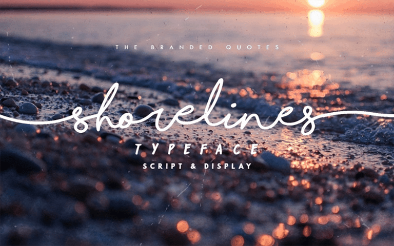 Cursive Handwriting Font - Shorelines