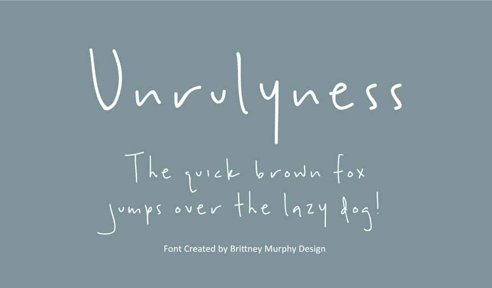 Free Handwriting Font - Unrulyness