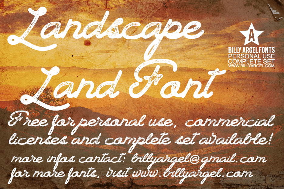 Free Handwritten Font - Landscape