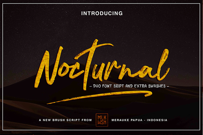Free Script Handwriting Font - Nocturnal