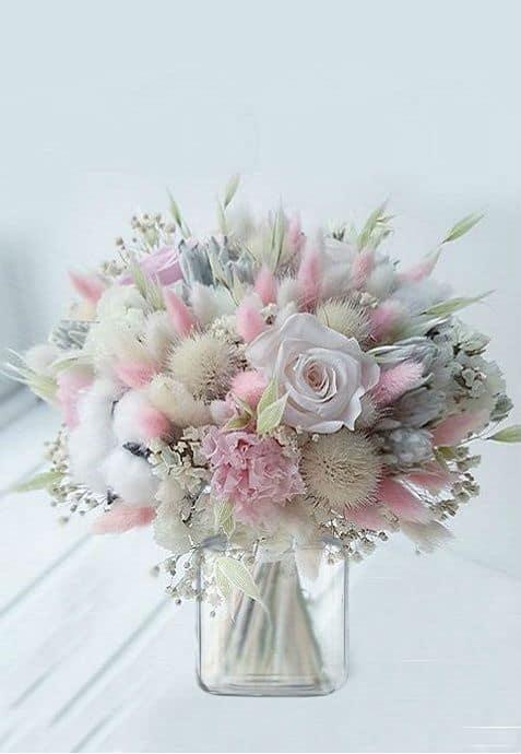 Pastel Flower Arrangement Idea