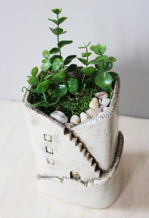 Ceramic House Planter