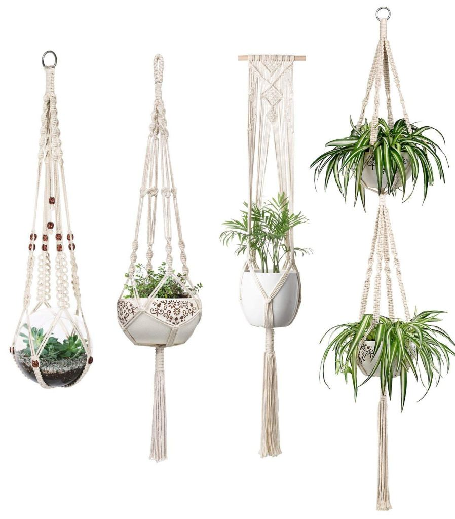 Desk Must Haves - Macrame Plant Hanging Pot