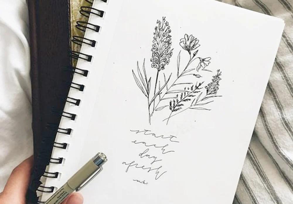 Simple Flower Drawings
