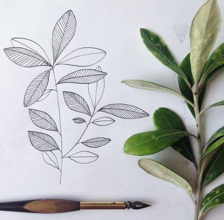 Leaf Drawing Ideas