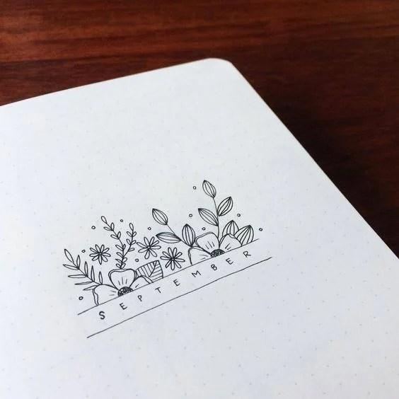 Drawing Ideas - Bullet Journal Notebook