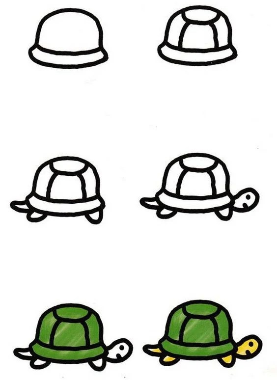 Simple Drawing Ideas Turtle