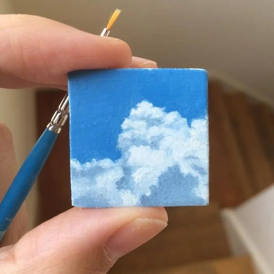 Easy Mini canvas painting idea