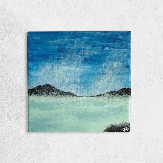 Easy Landscape Canvas Painting