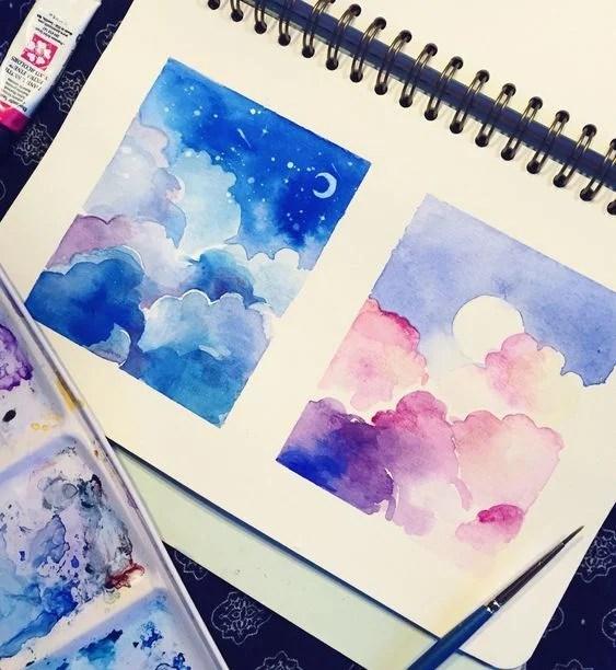 Easy Watercolor Art Painting