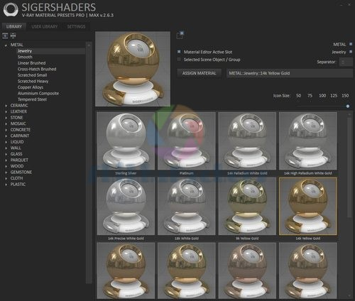 SIGERSHADERS V-Ray Material Presets Pro 2.6.3 For 3ds Max 2012 – 2014