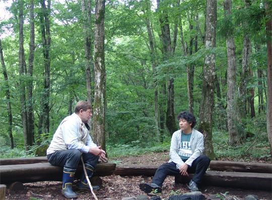 C.W.ニコルさん×茂木健一郎さん@長野県黒姫、アファンの森