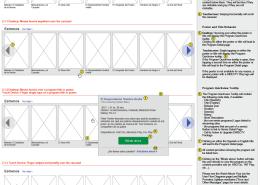 Wireframe details for the carousel behavior