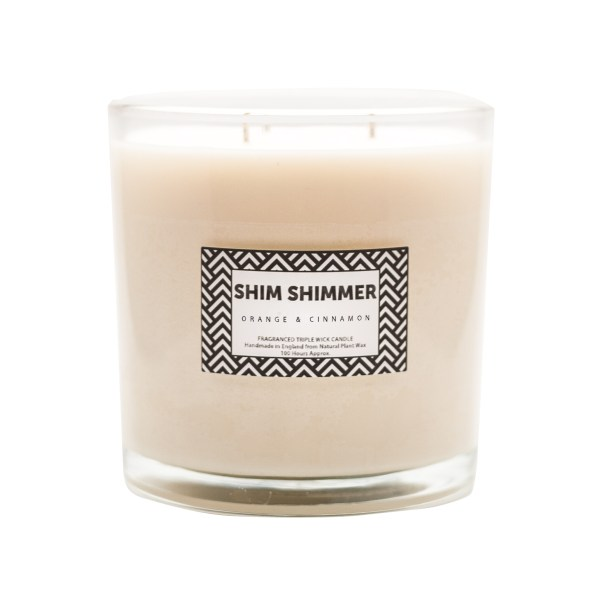 3 wick candle luxury shim shimmer organic scented fragranced candles handmade in england