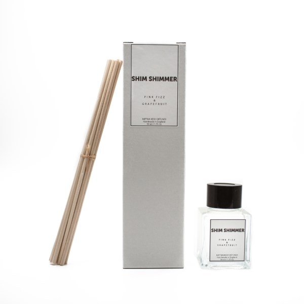 reed diffuser, shim shimmer, luxury, scented candles