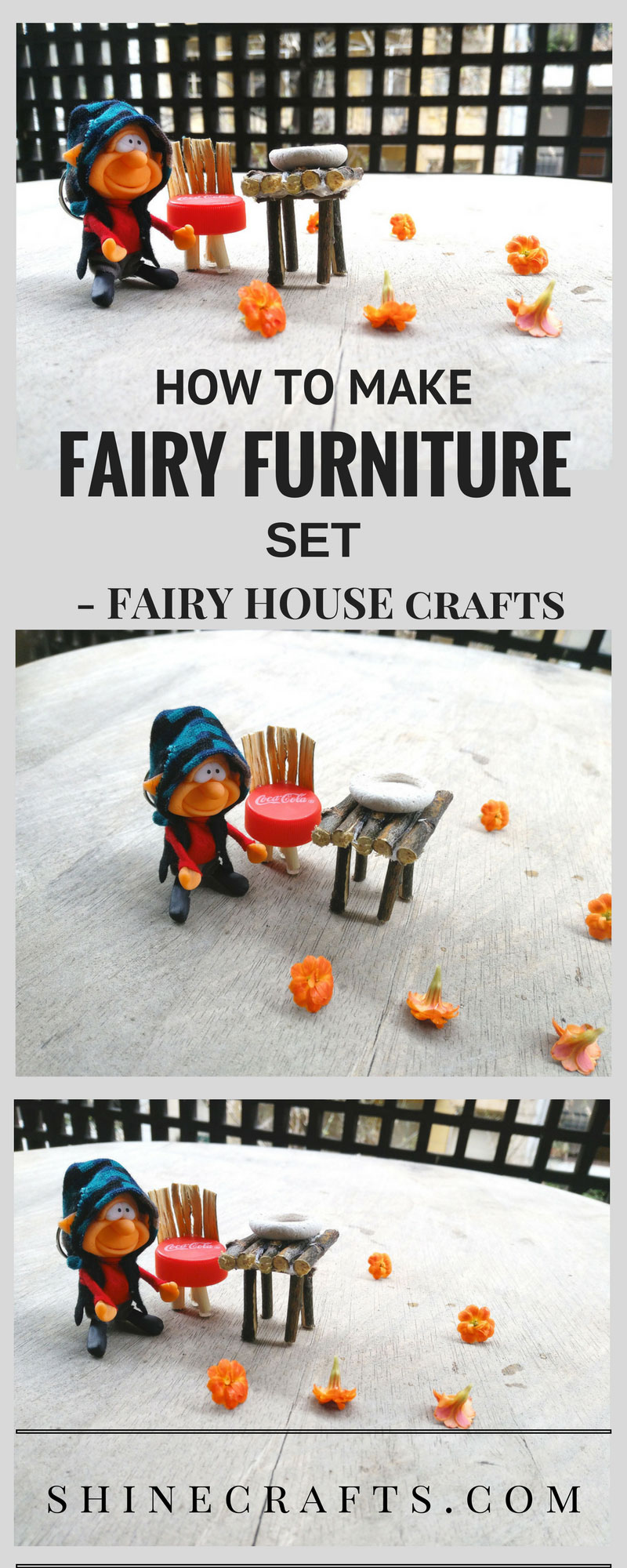 DIY Mini Fairy Furniture set | Fairy House Crafts | Learn how to make this interesting and gorgeous recycled Fairy Furniture set for your Fairy House now.