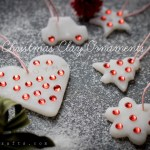 Make Bling Christmas Clay Ornaments