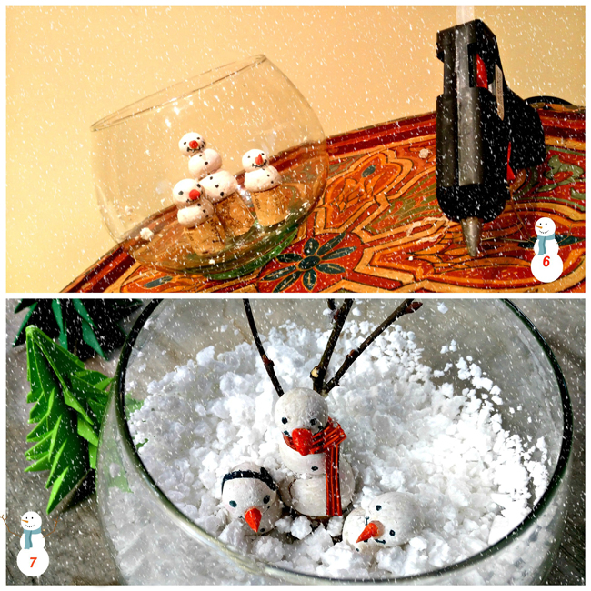 How to Make A Snowman in a Jar - Christmas Winter Scene