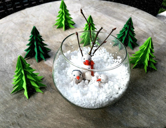 How to Make A Snowman Winter Scene