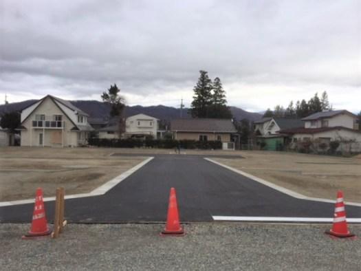 分譲地内の開発道路 R1.11撮影