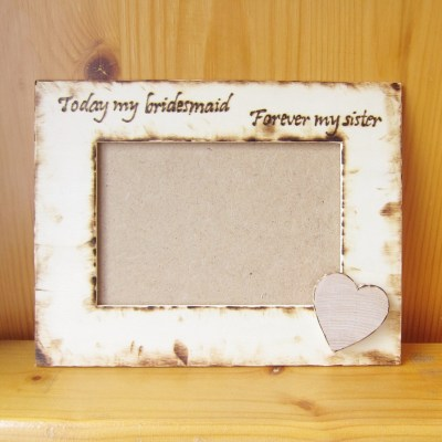 wedding photo frame heart
