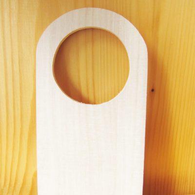 wood craft door hanger