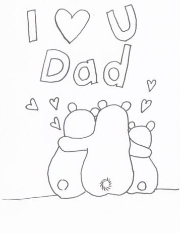 bear father day coloring