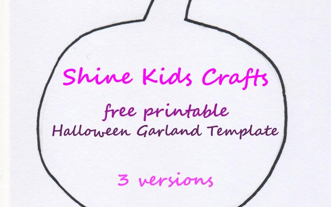 Halloween Free Printable Garland / Template (1)