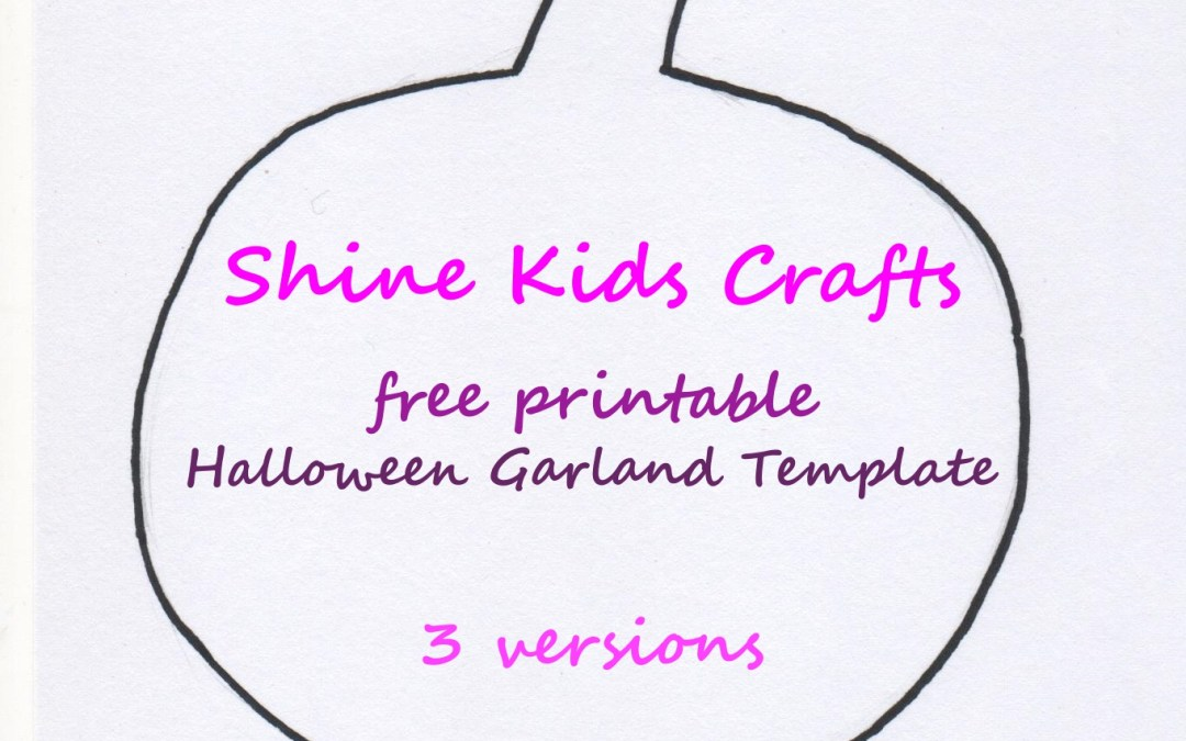 halloween free printable garland template