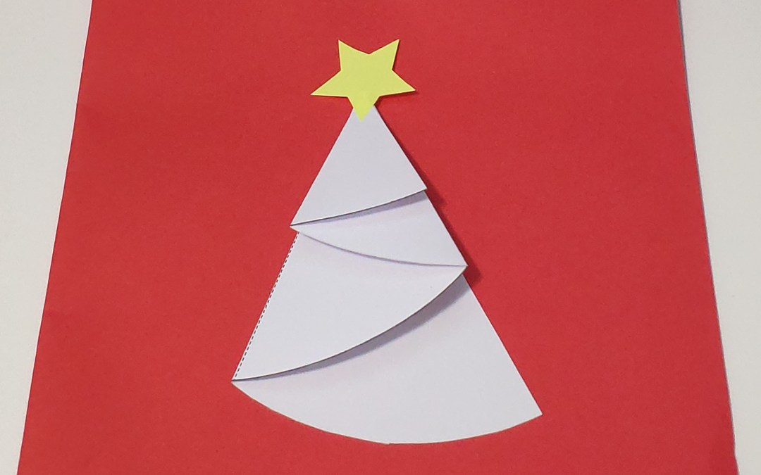 Fold Paper X'mas Tree – with template & easy