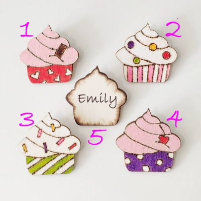 wood fridge magnet pin cake top