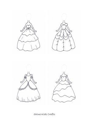 princess dress coloring