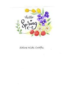free printable floral drawing
